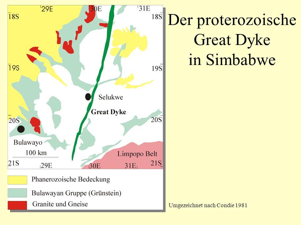 Umgezeichnet nach Condie 1981 Der proterozoische Great Dyke in Simbabwe