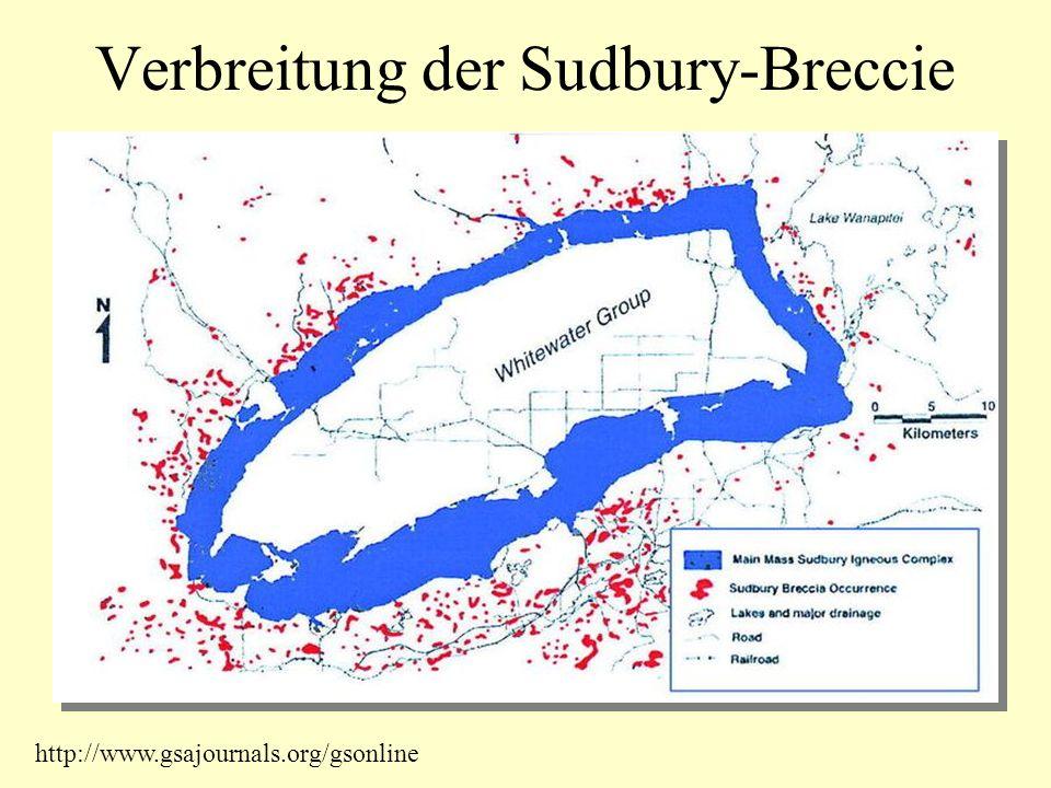 Verbreitung der Sudbury-Breccie http://www.gsajournals.org/gsonline