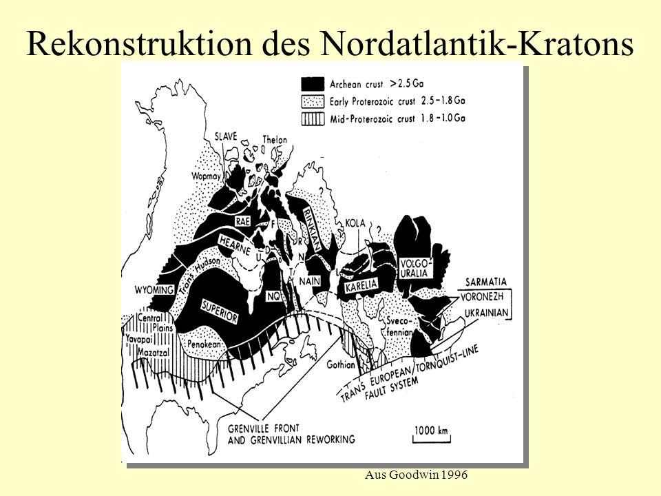 Aus Goodwin 1996 Rekonstruktion des Nordatlantik-Kratons