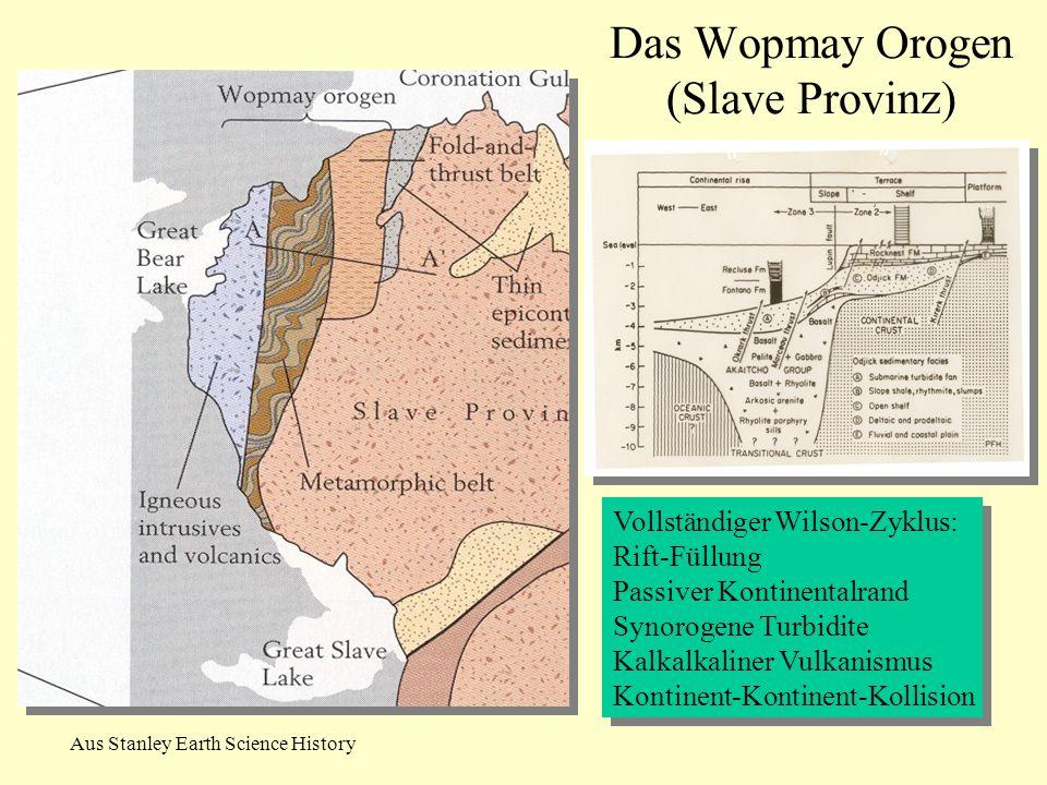 Aus Stanley Earth Science History Vollständiger Wilson-Zyklus: Rift-Füllung Passiver Kontinentalrand Synorogene Turbidite Kalkalkaliner Vulkanismus Ko