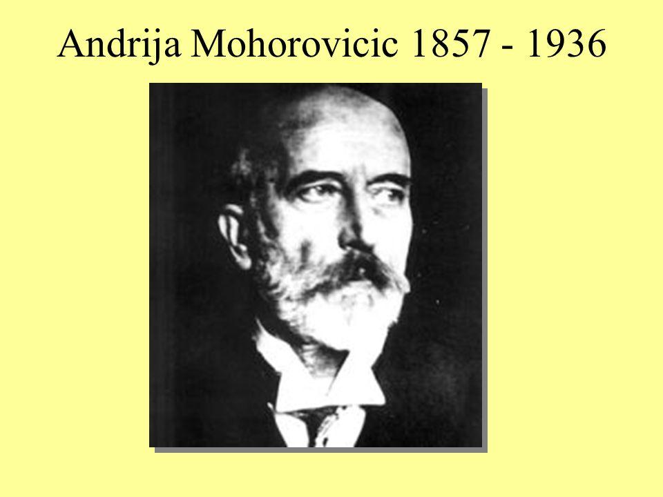 Andrija Mohorovicic 1857 - 1936