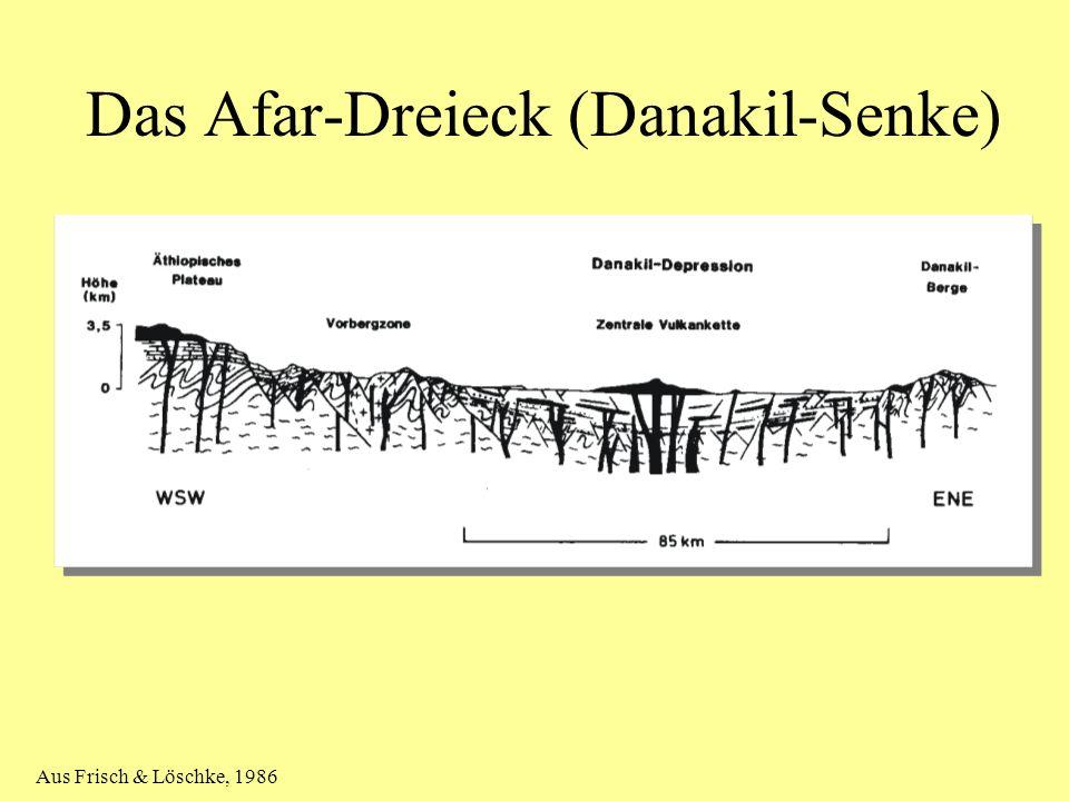 Das Afar-Dreieck (Danakil-Senke) Aus Frisch & Löschke, 1986