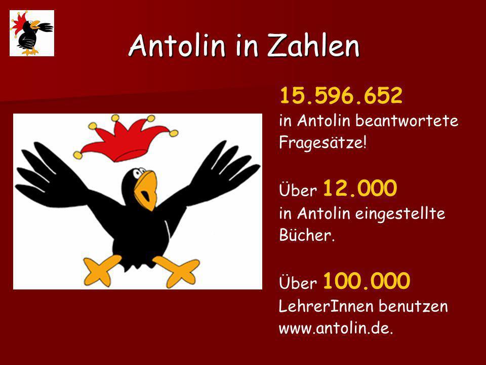 Antolin in Zahlen 15.596.652 in Antolin beantwortete Fragesätze.