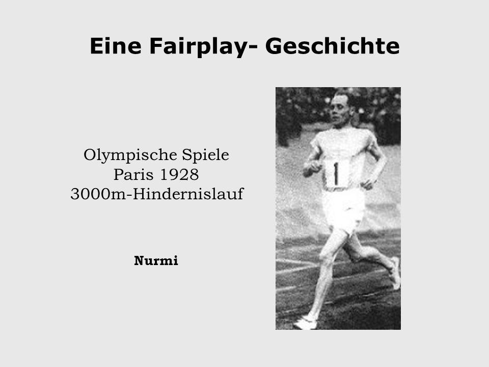 Eine Fairplay- Geschichte Olympische Spiele Paris 1928 3000m-Hindernislauf Nurmi