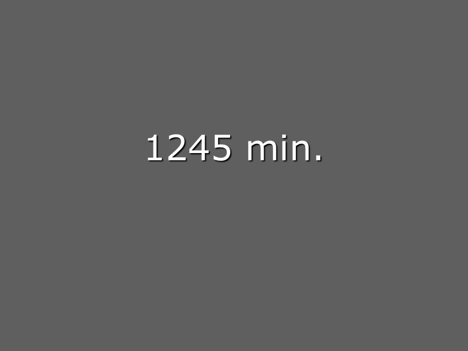 1245 min.