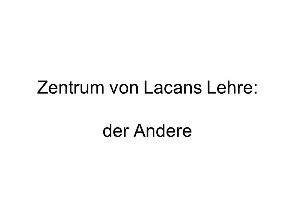 Zentrum von Lacans Lehre: der Andere