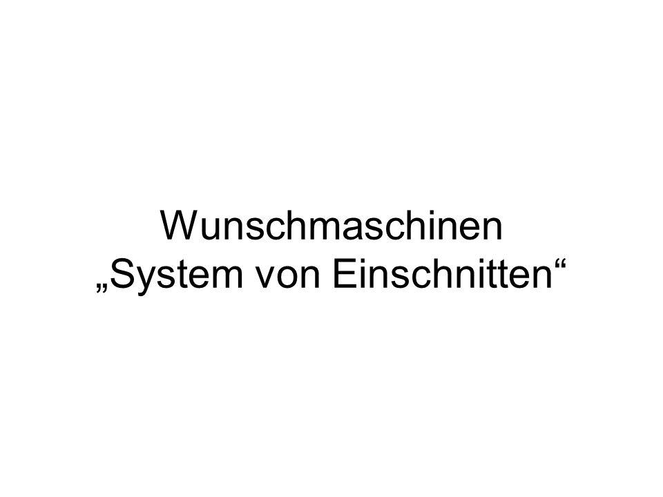 Wunschmaschinen System von Einschnitten