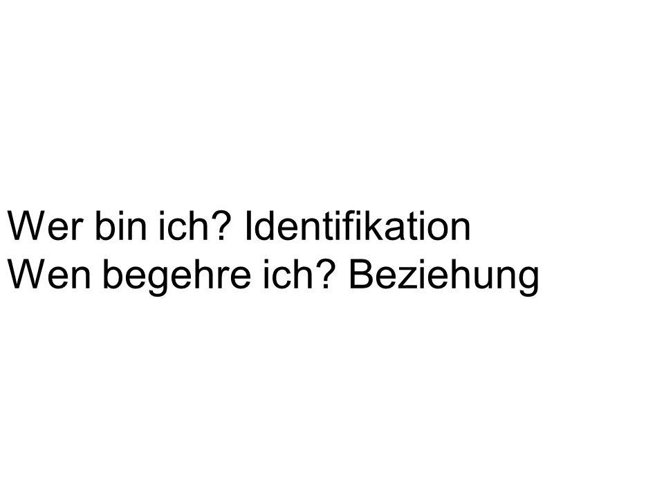 Wer bin ich Identifikation Wen begehre ich Beziehung