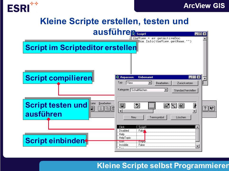 ArcView GIS Scripte - beim Berechnen von Feldern Avenue in der graphischen Benutzeroberfläche