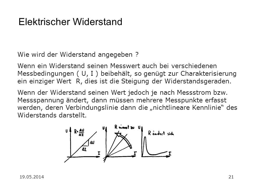 19.05.201421 Elektrischer Widerstand Wie wird der Widerstand angegeben .
