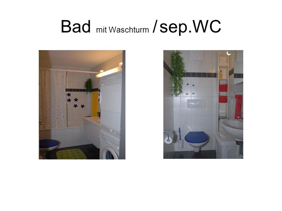 Bad mit Waschturm / sep.WC