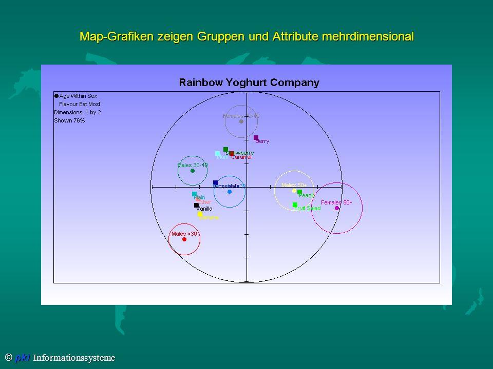 © pki Informationssysteme Map-Grafiken zeigen Gruppen und Attribute mehrdimensional
