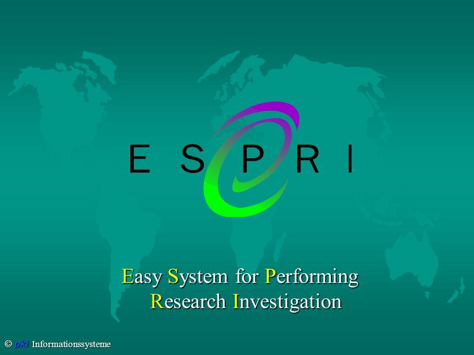 © pki Informationssysteme ESPRI heißt...