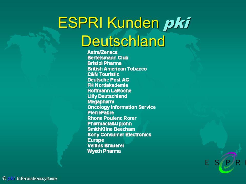 © pki Informationssysteme Kunden weltweit ESPRI