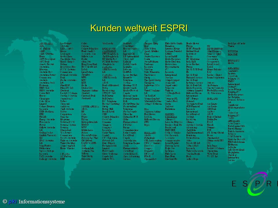 © pki Informationssysteme Kunden weltweit (Forts.)