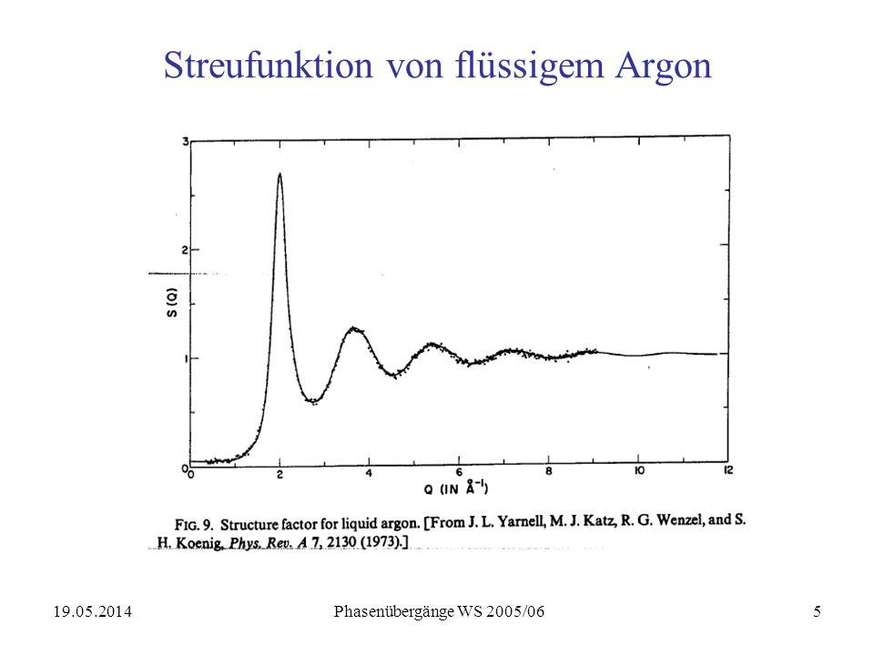19.05.2014 Phasenübergänge WS 2005/0626 Beispiel Messing Messing = Kupfer-Zink Legierung (55-90% Cu) T < T C = 733K: geordnetes System: Ordnungs-Unordnungs Phasenübergang T T C : (vgl.