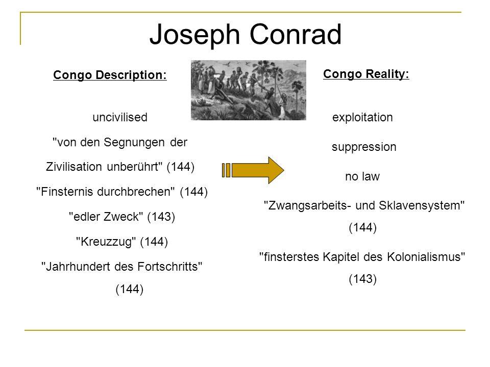 Joseph Conrad uncivilised