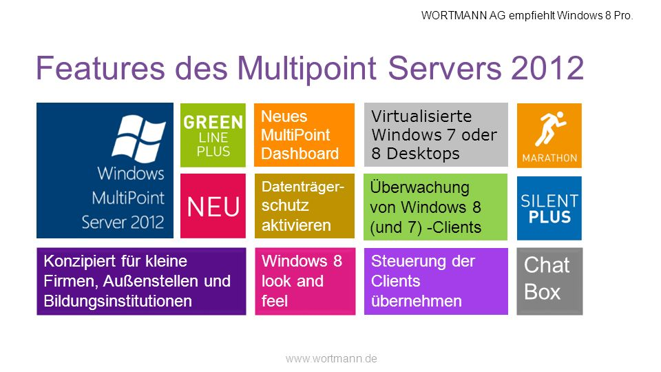 WORTMANN AG empfiehlt Windows 8 Pro.