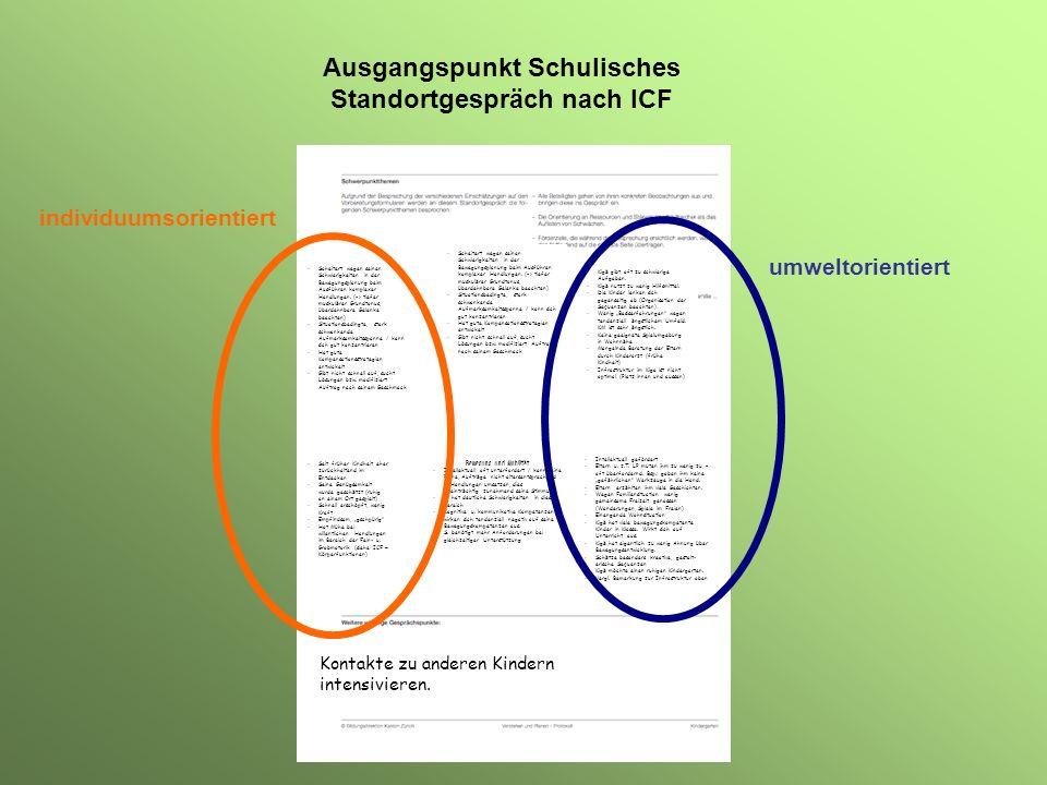 ICF und Unterrichtsentwicklung WFP Webbasierter Förderplaner QSS Qualitätssicherung in Schulen