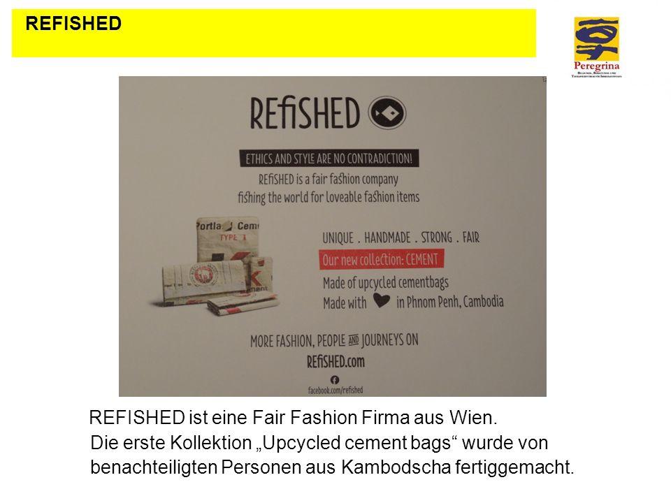 REFISHED ist eine Fair Fashion Firma aus Wien. Die erste Kollektion Upcycled cement bags wurde von benachteiligten Personen aus Kambodscha fertiggemac