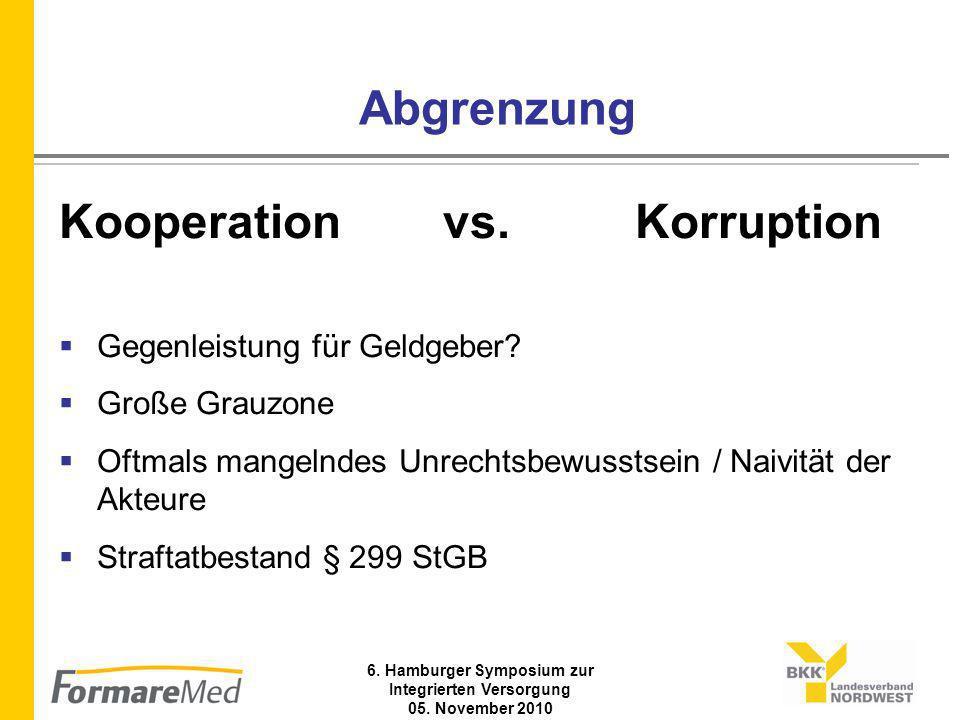 6. Hamburger Symposium zur Integrierten Versorgung 05. November 2010