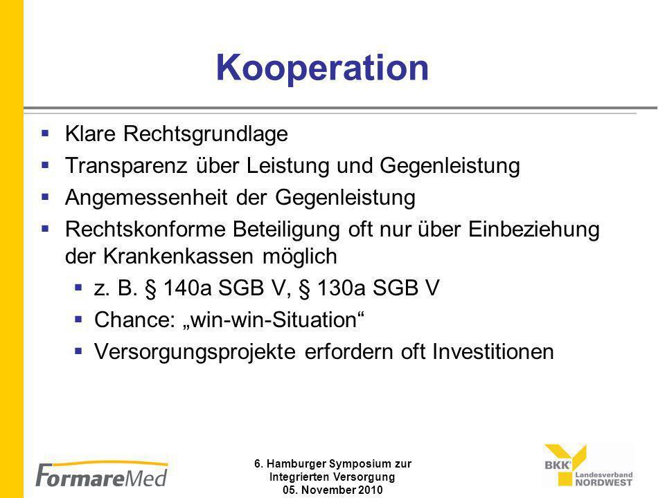6. Hamburger Symposium zur Integrierten Versorgung 05. November 2010 Versorgungsablauf (b)