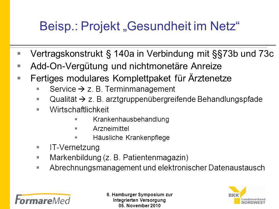 6. Hamburger Symposium zur Integrierten Versorgung 05.