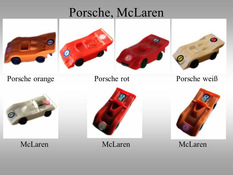 Porsche weißPorsche rotPorsche orange McLaren Porsche, McLaren