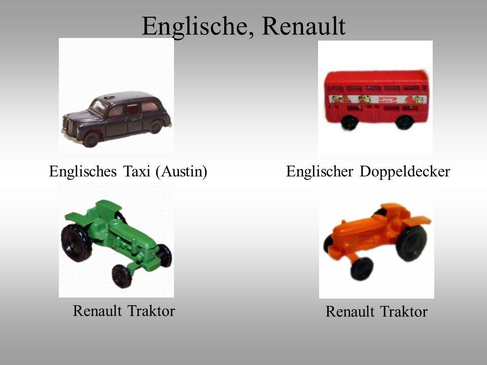 Englisches Taxi (Austin)Englischer Doppeldecker Renault Traktor Englische, Renault