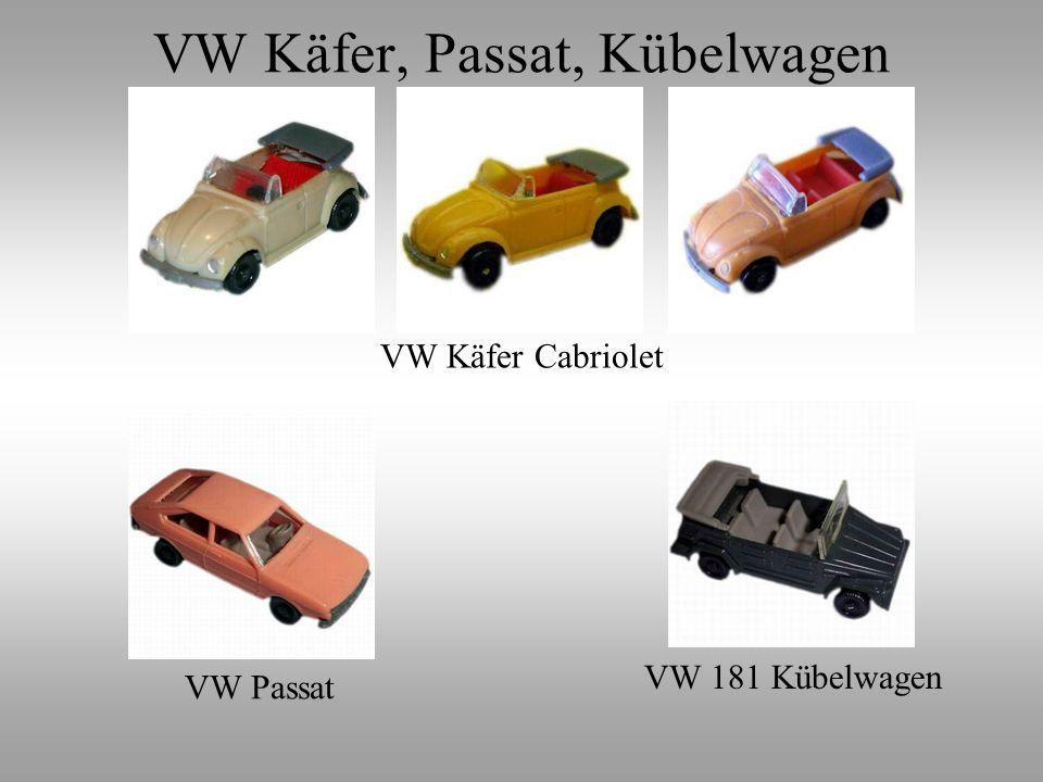 VW Käfer Cabriolet VW Passat VW 181 Kübelwagen VW Käfer, Passat, Kübelwagen
