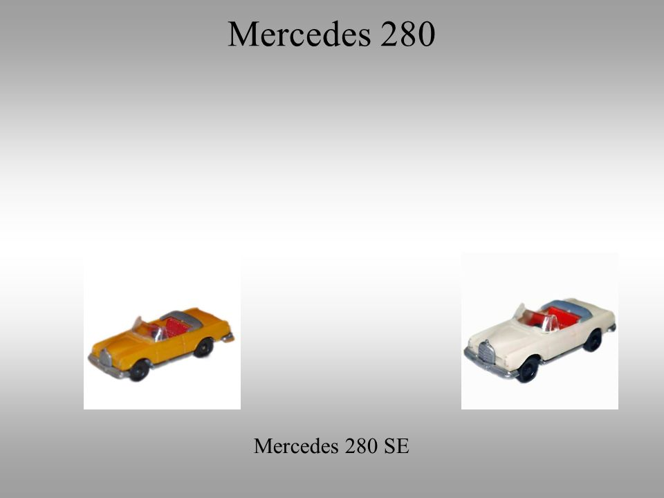 Mercedes 280 SE Mercedes 280