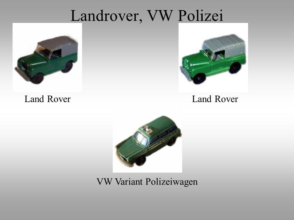 Landrover, VW Polizei Land Rover VW Variant Polizeiwagen