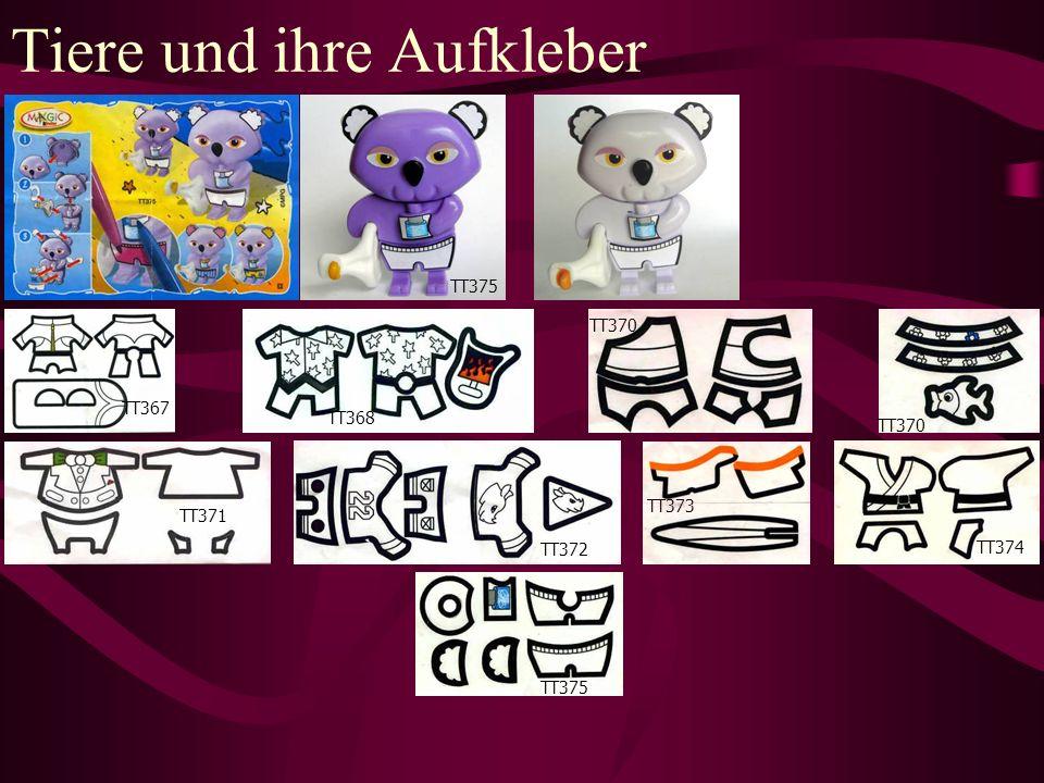 Tiere und ihre Aufkleber TT373 TT375 TT370 TT372 TT374 TT375 TT368 TT367 TT371