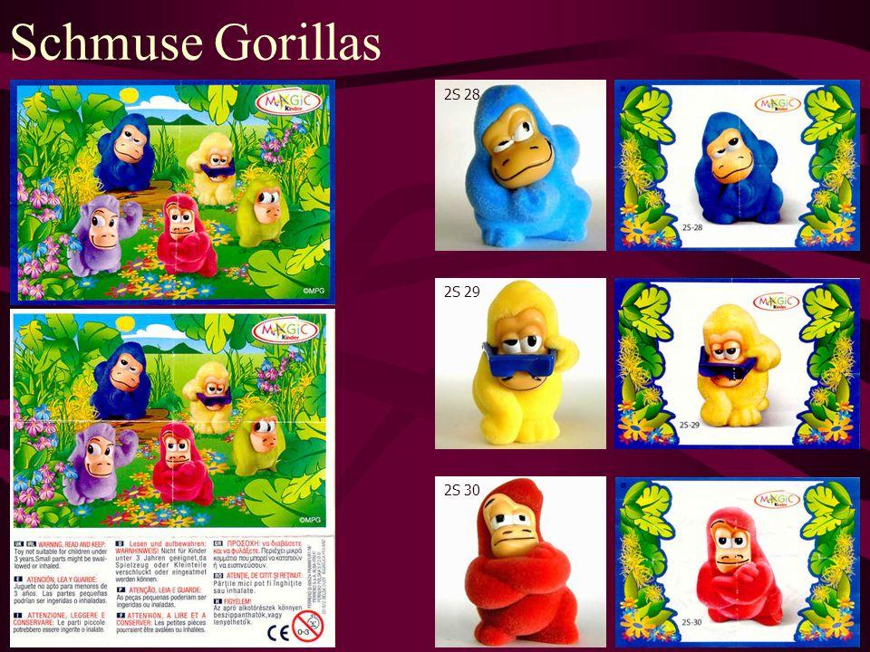 Schmuse Gorillas 2S 28 2S 29 2S 30