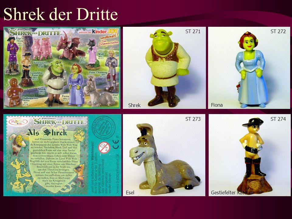 Shrek der Dritte ST 276 Prinz Charming Wolf ST 277 Käpt´n Hook ST 279 Schweinchen ST 280 Drache ST 275 Pfefferkuchenmann ST 278