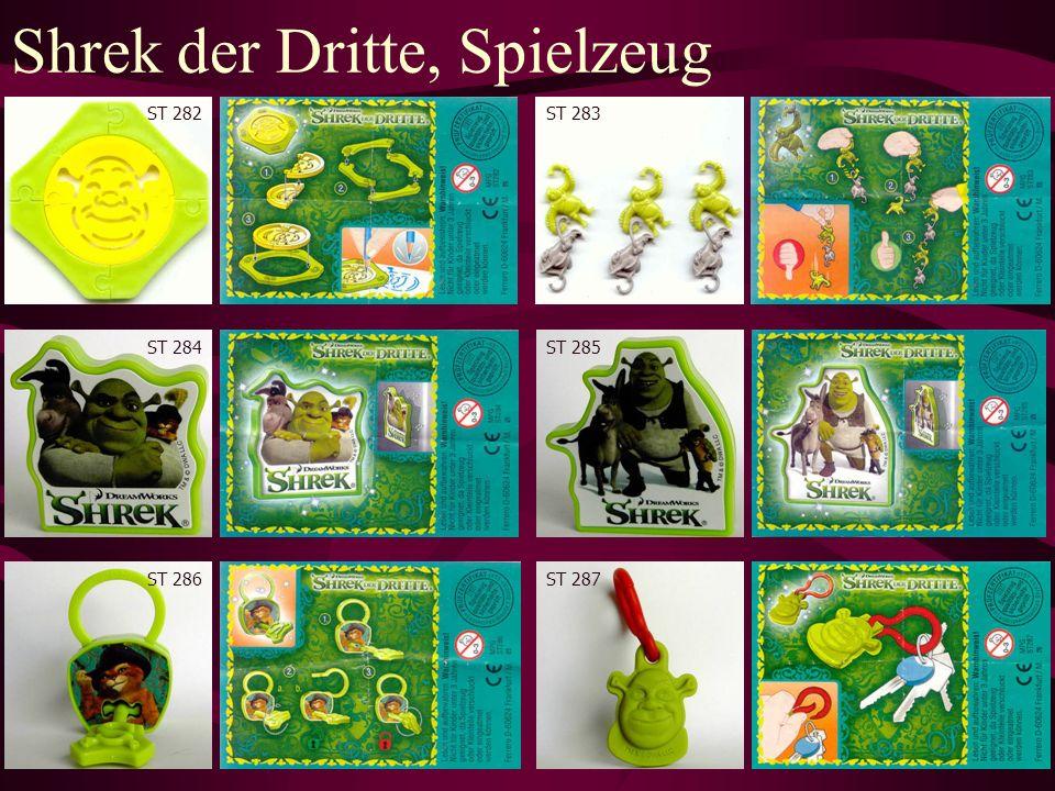 Shrek der Dritte, Spielzeug ST 282ST 283 ST 284ST 285 ST 286ST 287