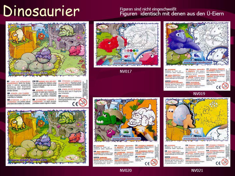 Dinosaurier Figuren sind nicht eingeschweißt NV017 NV019 NV020NV021 Figuren identisch mit denen aus den Ü-Eiern