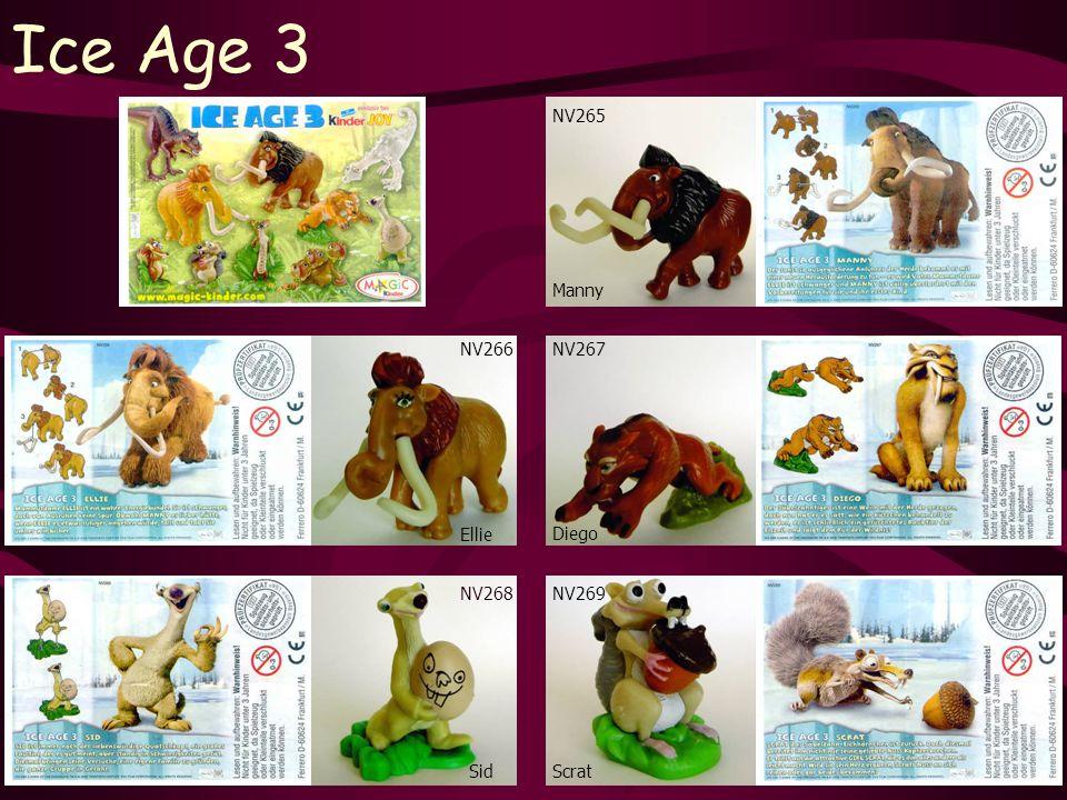 Ice Age 3 NV268 Sid NV265 Scrat NV267 Manny Diego NV269 NV266 Ellie