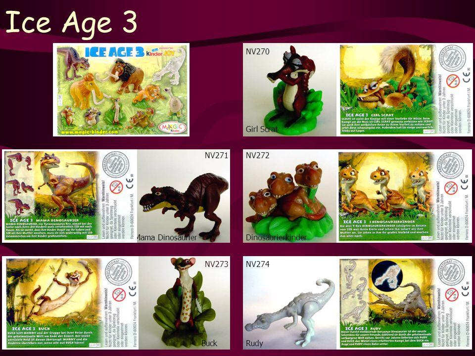 Ice Age 3 NV273 Buck NV270 Rudy NV272 Girl Scrat Dinosaurierkinder NV274 NV271 Mama Dinosaurier