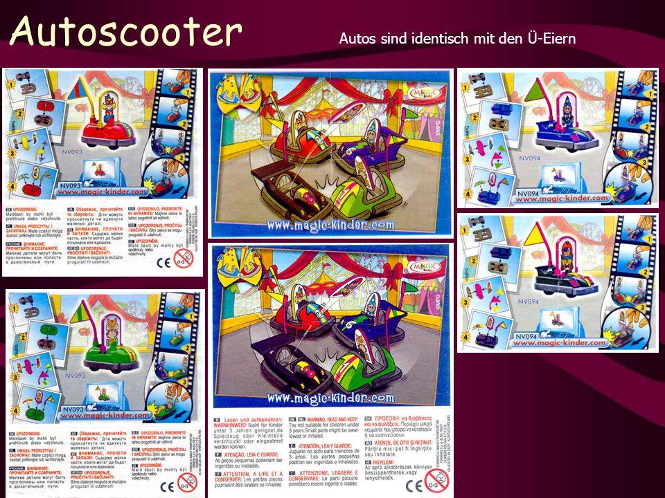 Autoscooter Autos sind identisch mit den Ü-Eiern