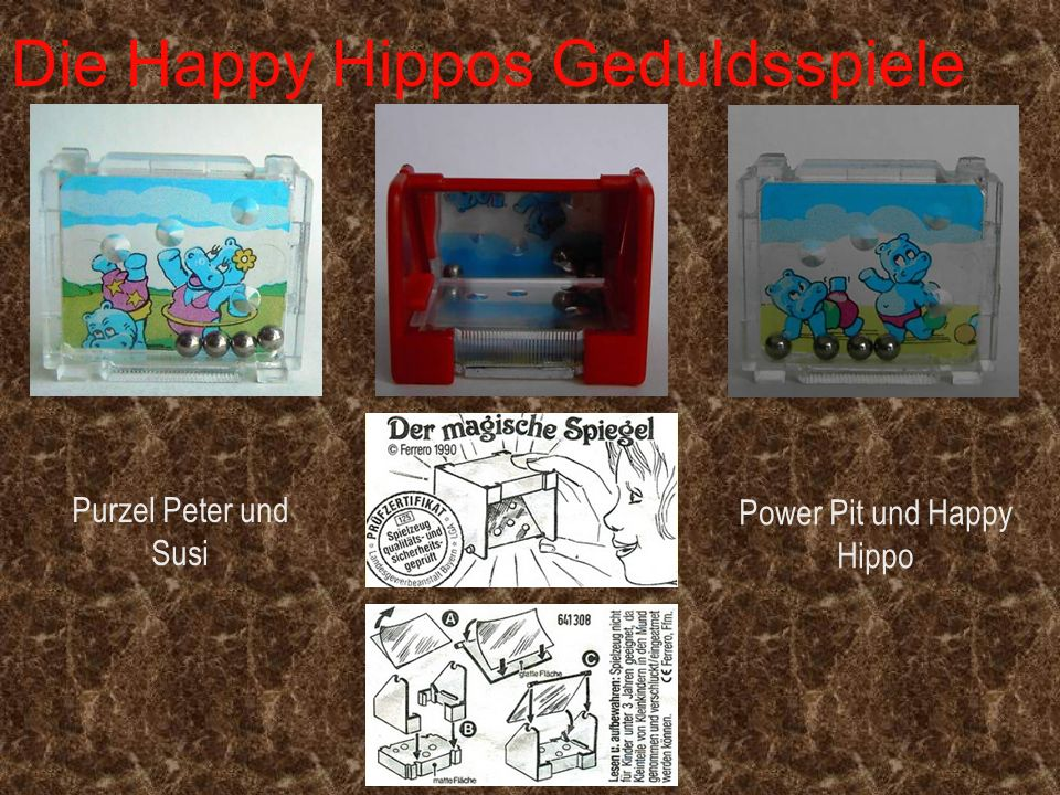 Die Happy Hippos Geduldsspiele Power Pit und Happy Hippo Purzel Peter und Susi