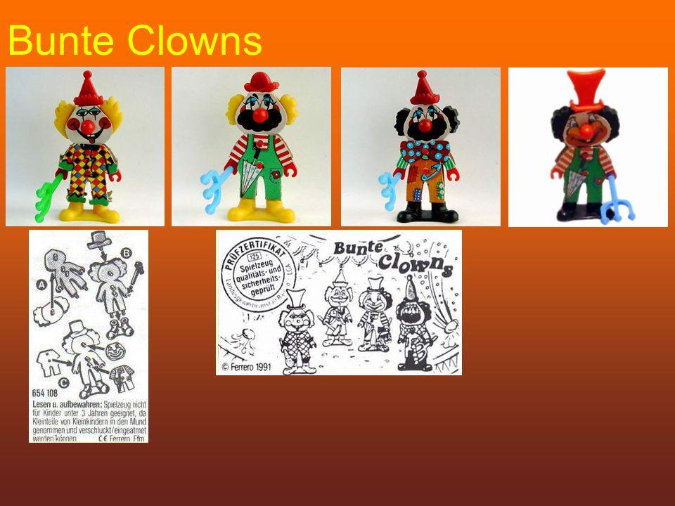 Bunte Clowns