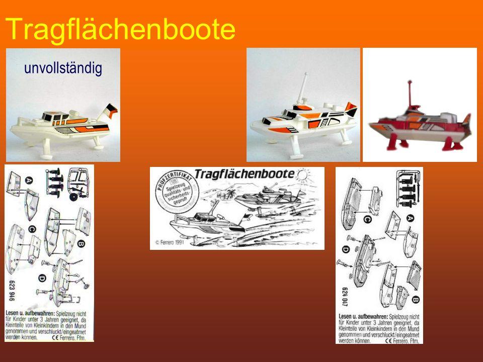 Tragflächenboote unvollständig