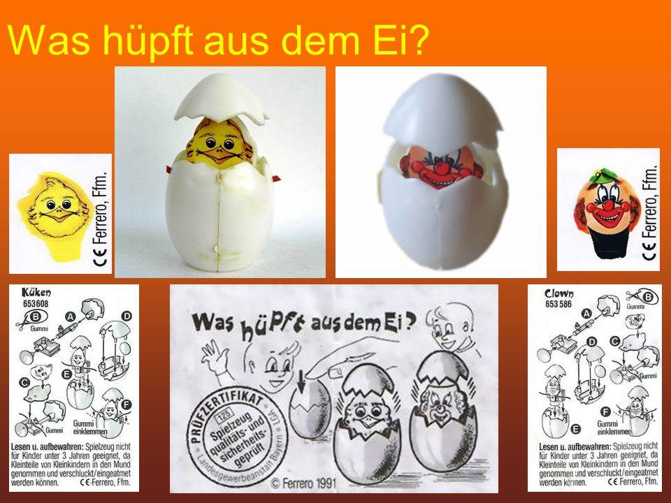 Was hüpft aus dem Ei