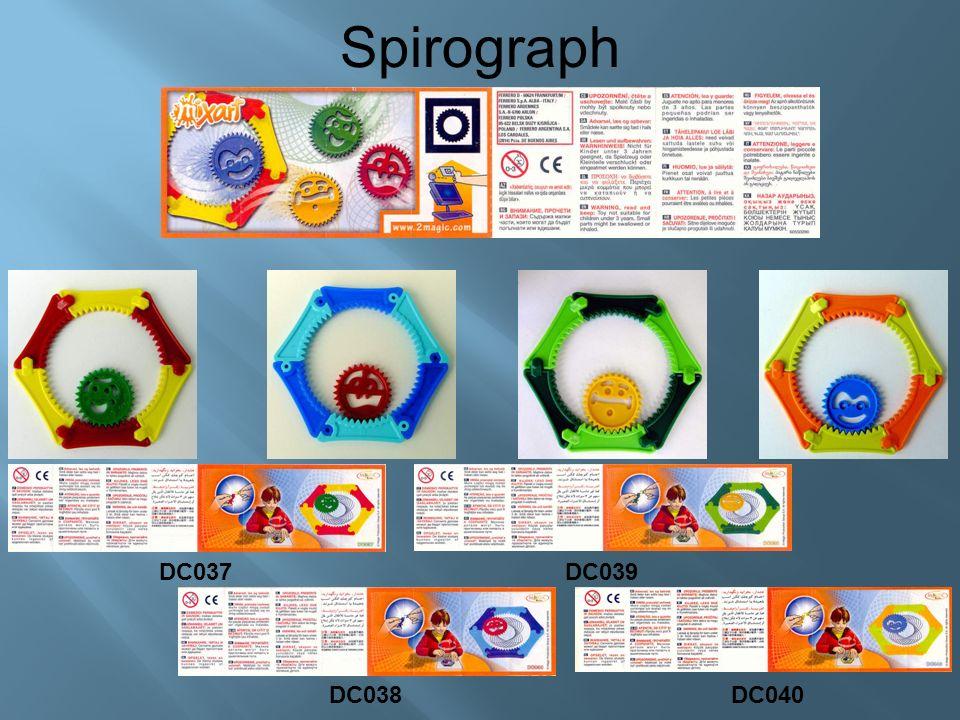 Spirograph DC037 DC038 DC039 DC040