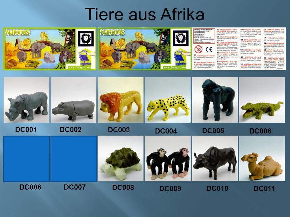 Tiere aus Afrika DC001 DC002 DC003 DC004 DC005 DC011 DC006 DC007 DC008 DC009 DC010