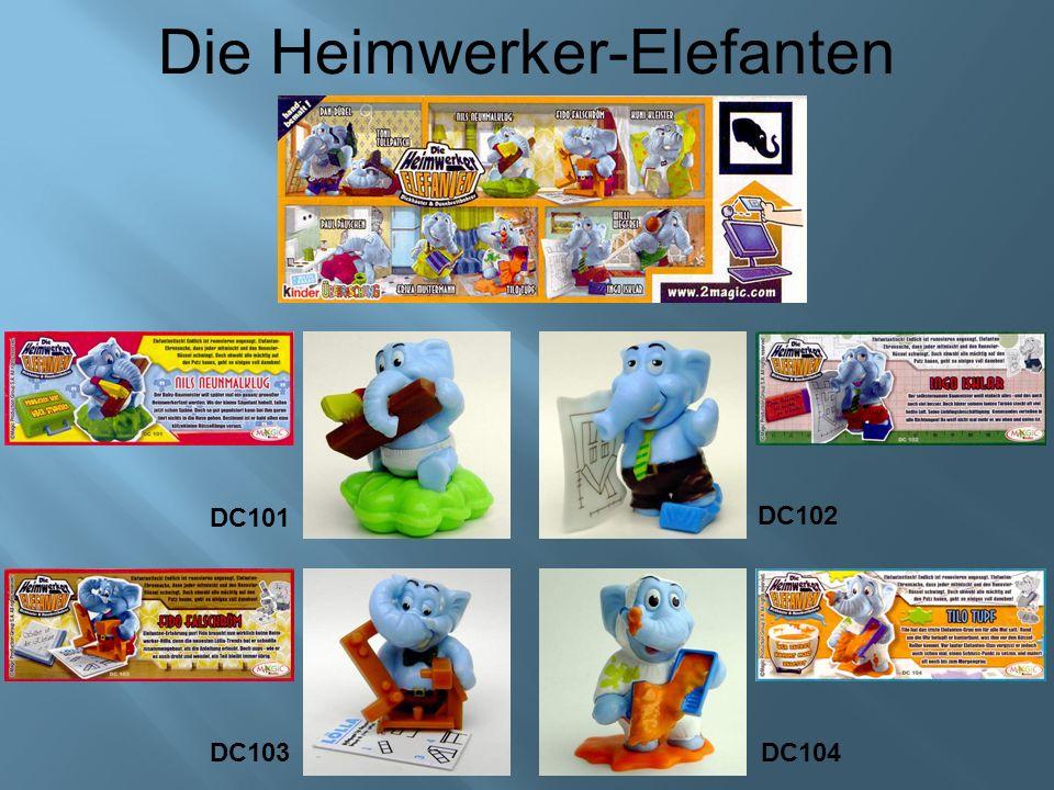 Die Heimwerker-Elefanten DC101 DC102 DC103 DC104