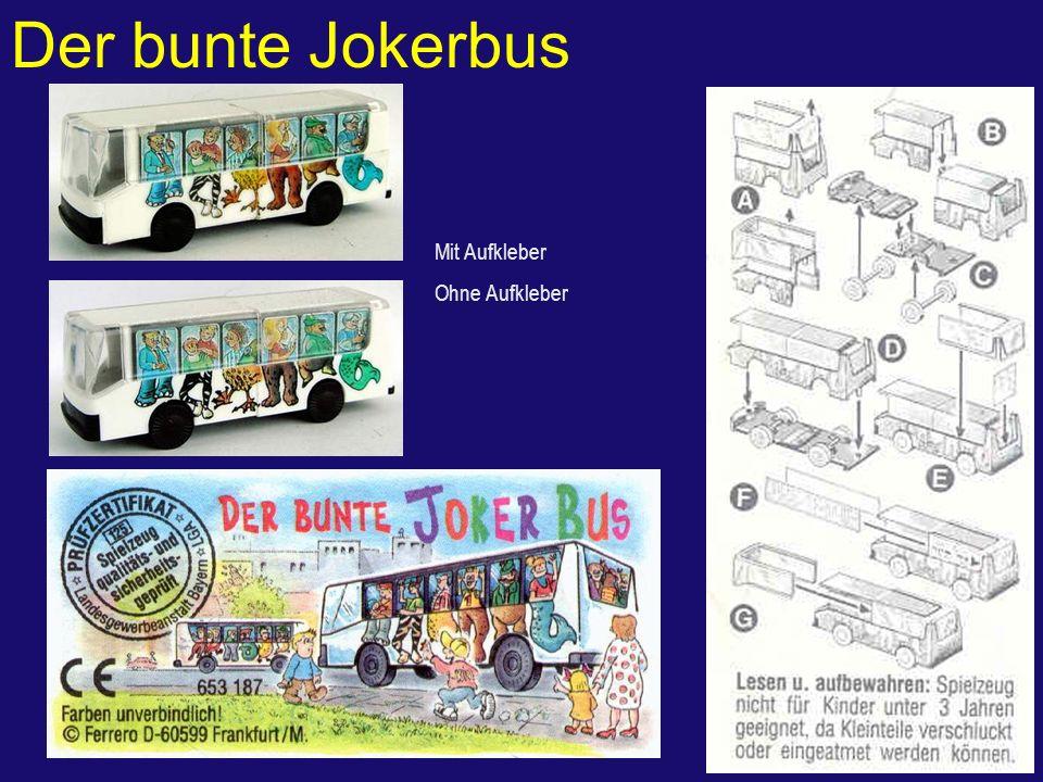 Der bunte Jokerbus Mit Aufkleber Ohne Aufkleber