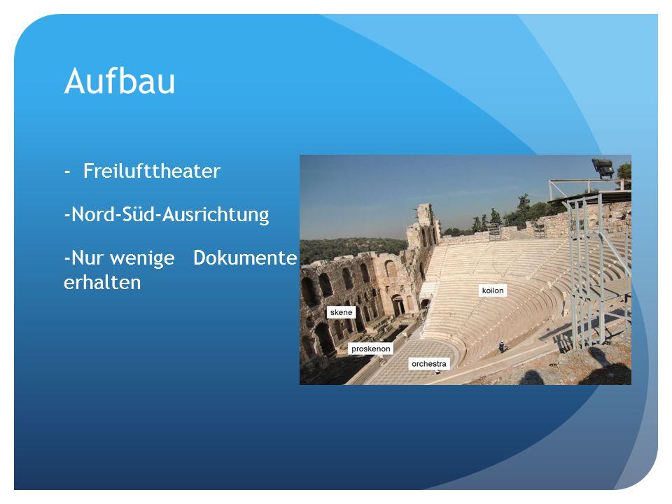 Aufbau - Freilufttheater -Nord-Süd-Ausrichtung -Nur wenige Dokumente erhalten