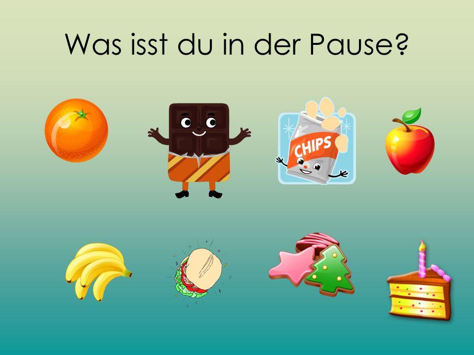 Was isst du in der Pause?